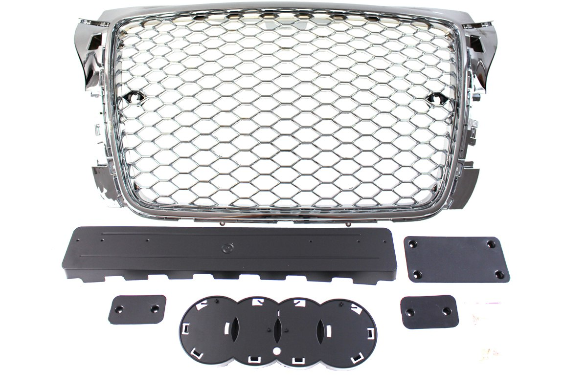 GRILL AUDI A3 8P RS-STYLE CHROME (09-12) PDC - GRUBYGARAGE - Sklep Tuningowy